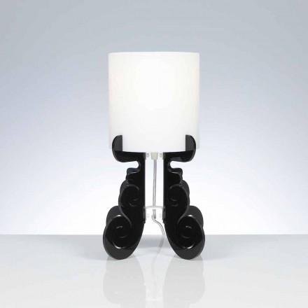 Bordslampa med en cylindrisk lampskärm, diameter 18,5 cm, Samanta