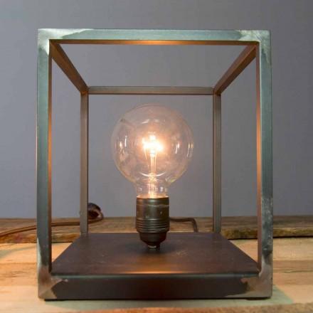 Bordslampa med hantverksjärnkonstruktion tillverkad i Italien - Cubola