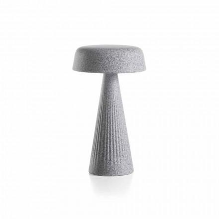 Bordslampa med struktur i polyeten Tillverkad i Italien - Desmond