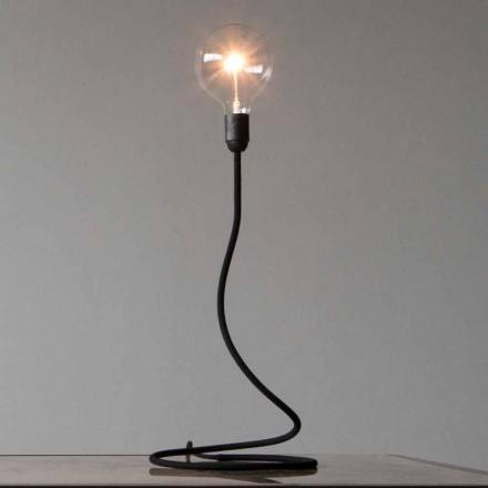 Bordslampa med kopparstruktur Modern design tillverkad i Italien - minimum