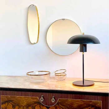 Artisan Design bordslampa i järn och aluminium Tillverkad i Italien - Marghe