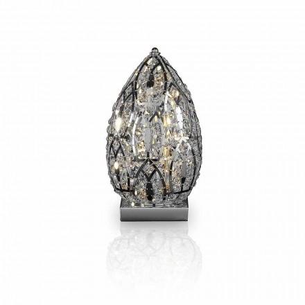 Utformning bordslampa i kristall och stål formad Ägg Ägg
