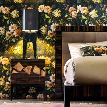 Bordslampa av massivt trädesign Grilli Zarafa gjorde Italien