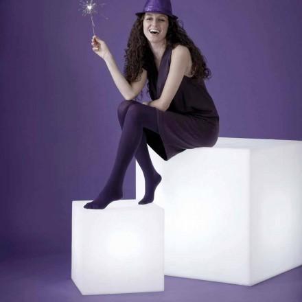 Vitbord / golvlampa Slide Cubo, gjord i Italien