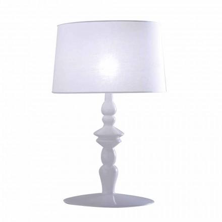 Bordslampa i vit keramik- och linsskärm 2 Mått - Cadabra