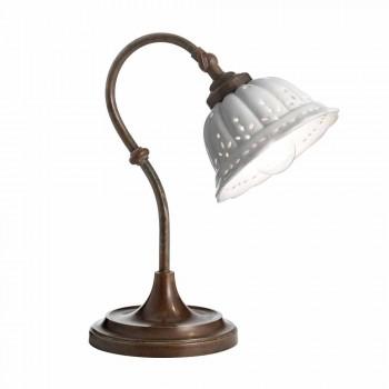 Lampa art nouveau keramiska bord Anita Il Fanale