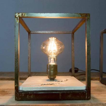 Bordslampa i järn och keramik handgjord i Italien - Floria