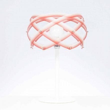 Lampa metakrylat bord med nyans dekorum, diam.40 cm, Vanna