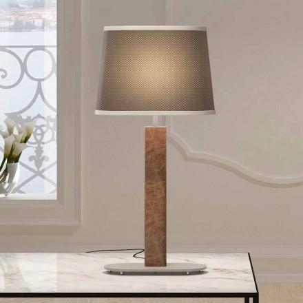 Bordslampa av metall med lampskärm av tyg Made in Italy - Jump