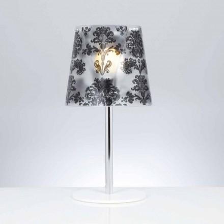 Polykarbonat bordslampa med dekorationer, diameter 30 cm, Mara