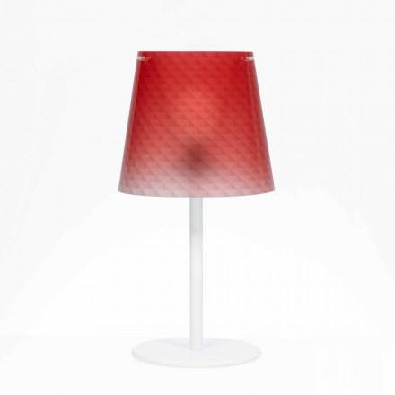 Polykarbonat lampa bord, diamant dekoration, Rania diam. 30 cm
