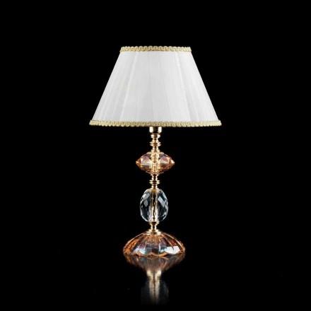 Glas Bordslampa och Crystal Belle, tillverkad i Italien