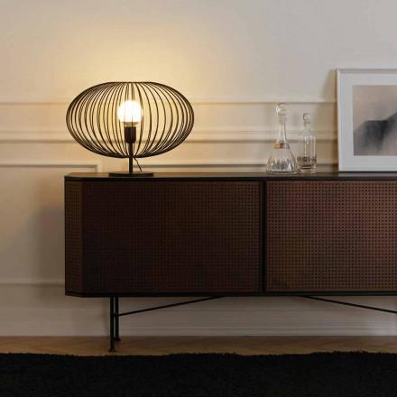 Samtida bordslampa i målat stål, 48xH35 cm, Gabri