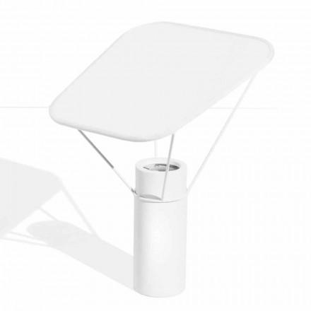 Modern bordslampa i harts och vit bomull tillverkad i Italien - Fiera