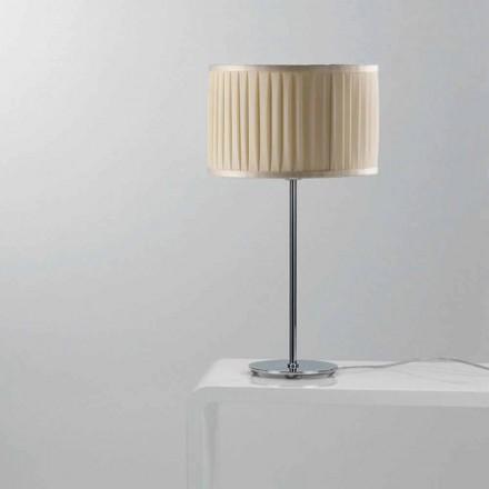 Moderna elfenben silke bordslampa Bambu
