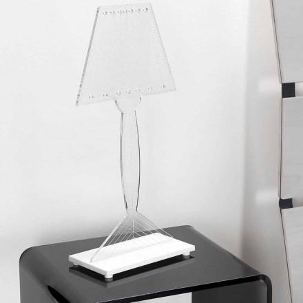 Gjuten bordslampa i plexiglas, LED-lampa, Ferla