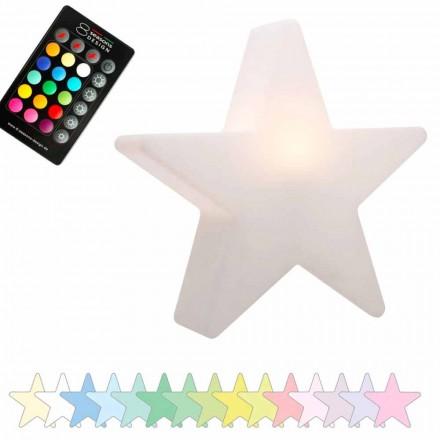 Sol- eller LED-bordslampa, stjärndesign i polyeten - Ringostar