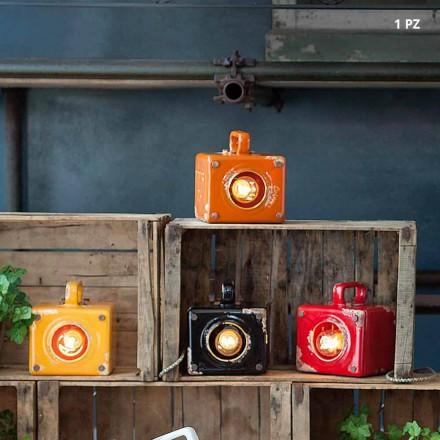 Industriell stil bordslampa i keramik och järn Valerie