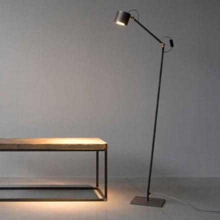 Handgjord ljus etsad golvlampa gjord i Italien - Vanda