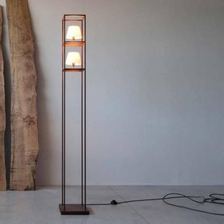 Handgjord järngolvlampa Corten Finish Made in Italy - Tower