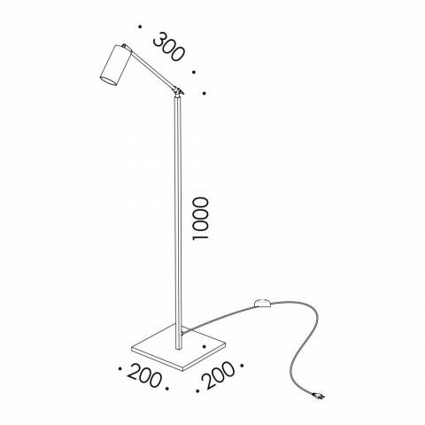 Artisan golvlampa i naturligt mässing med LED Made in Italy - Agio