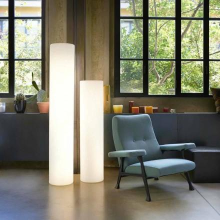 Slide Fluo cylindrisk golvlampa gjord i Italien