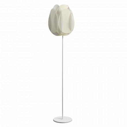 Golvlampa med pärla vit lampskärm, diam.40xH195 cm, Lora
