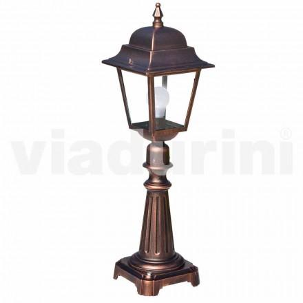 Utomhus golvlampa tillverkad med aluminium, tillverkad i Italien, Aquilina