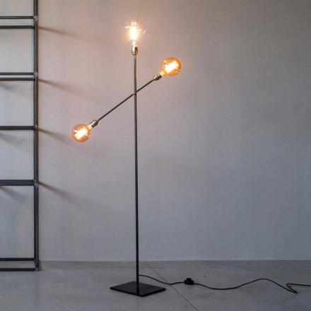 Design golvlampa i järn med justerbara lampor tillverkad i Italien - Melita