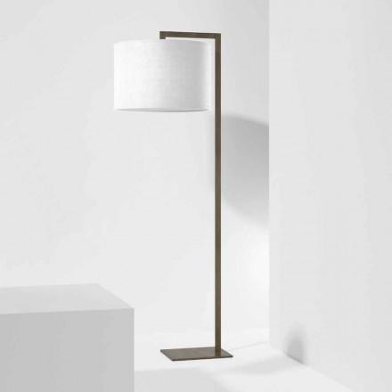 Design golvlampa i metall med linneskärm Tillverkad i Italien - Bali