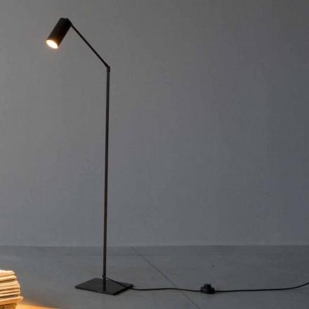 Golvlampa i järn och aluminium med justerbart ljus Made in Italy - Farla