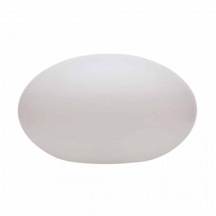 Led-, sol- eller E27 golvlampa i färgad modern oval design - Uovostar