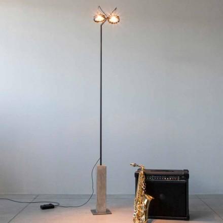 Golvlampa av järn med cementbas Tillverkad i Italien - Blink