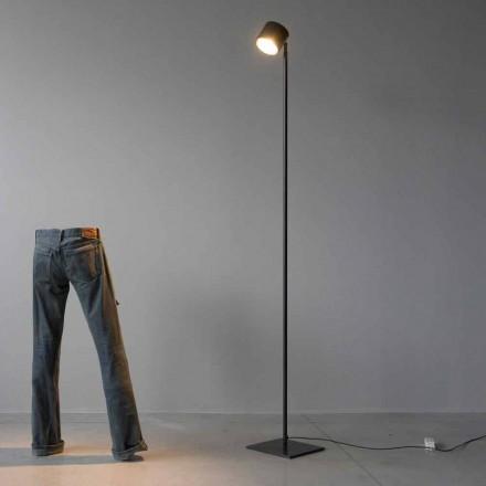 Minimal golvlampa i järn och svart aluminium Tillverkad i Italien - Osiris
