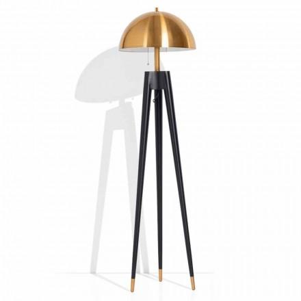 Modern golvlampa i metall och borstad mässing Tillverkad i Italien - Peter