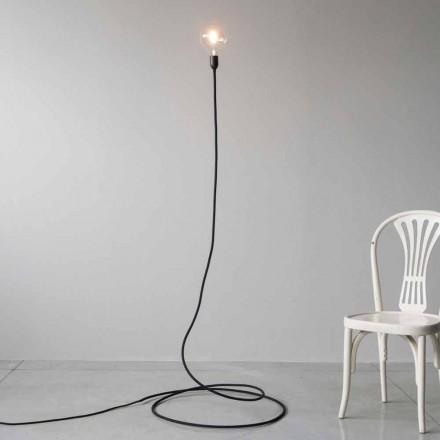 Modern golvlampa i handgjord koppar och bomull tillverkad i Italien - Guapa