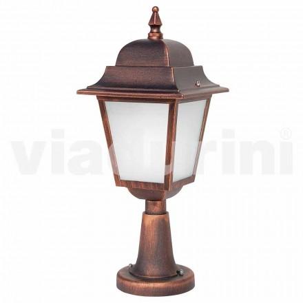 Utomhus golvlampa tillverkad av aluminium, tillverkad i Italien, Aquilina