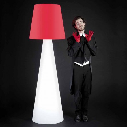 Slide Pivot design vit golvlampa, tillverkad i Italien
