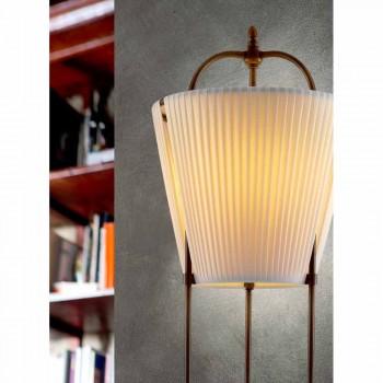 Tenarunga golvlampa, antik mässing, en ljus