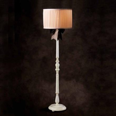 Vintage chanel elfenben silke golvlampa