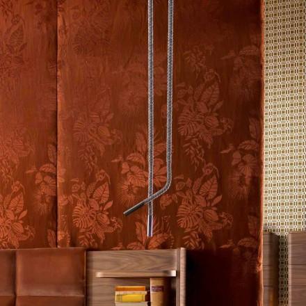 Grilli Snake tillverkad i Italien läder och metall design lampa