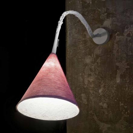 Designer vägglampa In-es.artdesign Jazz En Stripe-färgad ull