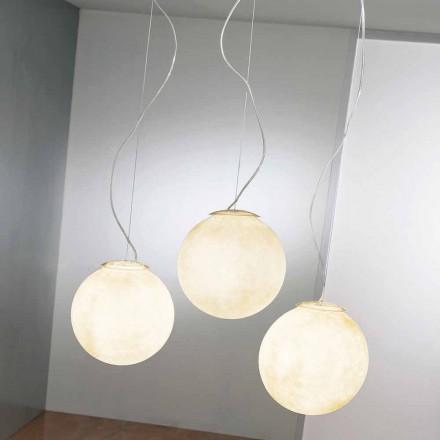 Suspension design lampa In-es.artdesign Tre Lune i nebulit