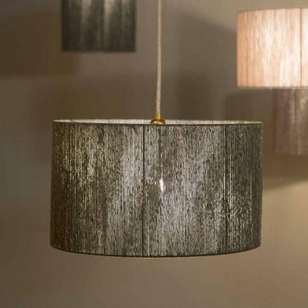 Suspended design lampa med d.45 i ull producerad i Italien Evita