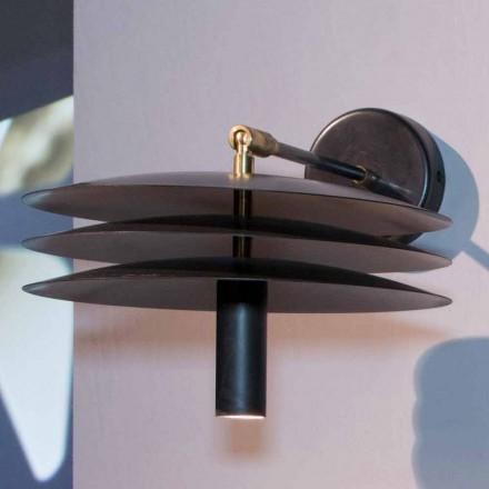 Handgjord lampa i järn med mörk syra med LED Made in Italy - Solano