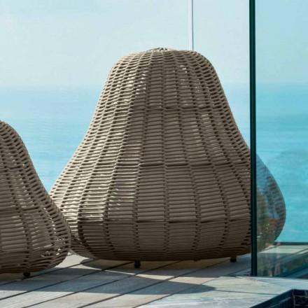 Stor designlampa Jackie Talenti för trädgården i syntetiskt rep