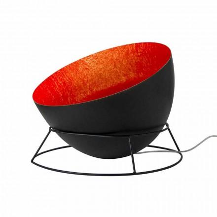 Stål och nebulit golvlampa In-es.artdesign H2o F färgad