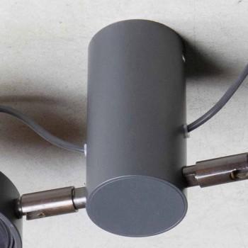 Aluminiumlampa med 2 justerbara lampor handgjorda tillverkade i Italien - Gemina