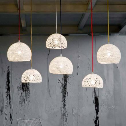 Lampa i bomull och viskos suspenderad In-es.artdesign Modern textur