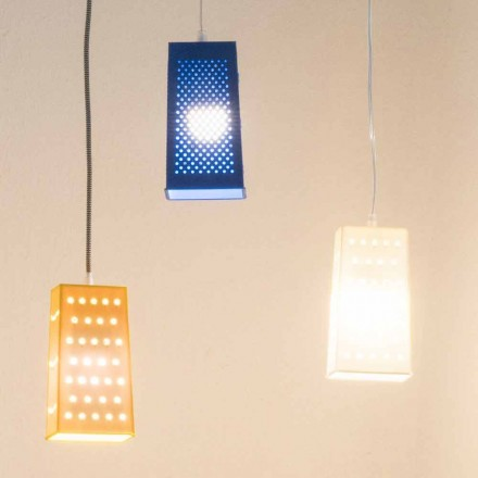 Suspenderad laprenlampa In-es.artdesign Cacio & Pepe 2 färgad